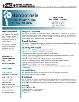 steoporosis - National Association for Continuing Education