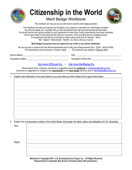 Citizenship in the World merit badge worksheet