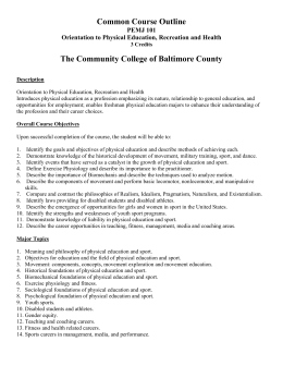 PEMJ 101 - Community College of Baltimore County