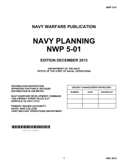 Navy Planning - US Naval War College