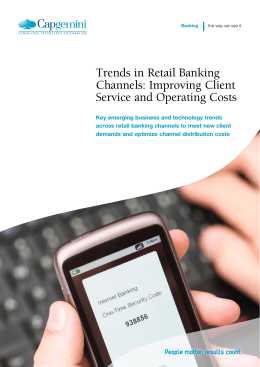 Trends in Retail Banking Channels: Improving Client Service and