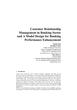 Customer Relationship Management in Banking Sector and A Model