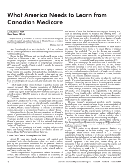 What America Needs to Learn from Canadian Medicare