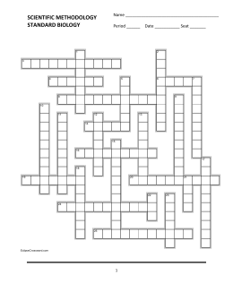 Scientific Methodology Crossword 1.1