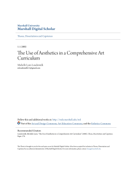 The Use of Aesthetics in a Comprehensive Art Curriculum