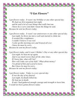 I Got Flowers Poem