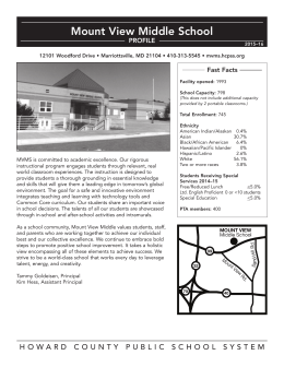 Mount View Middle School Profile