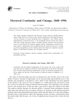 Electoral Continuity and Change, 1868–1996