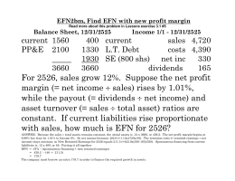 EFN2bm, Find EFN with new profit margin