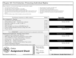 Chapter 20: Civil Liberties: Protecting Individual Rights