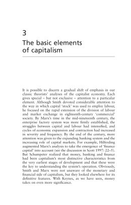 The basic elements of capitalism