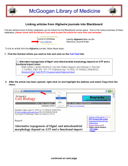 Linking articles into Blackboard
