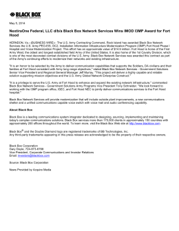 NextiraOne Federal, LLC d/b/a Black Box Network Services Wins