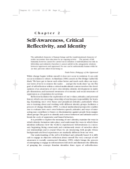 Chapter 2 Self-Awareness, Critical Reflectivity, and