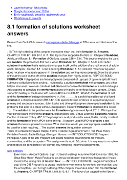 8.1 formation of solutions worksheet answers