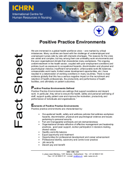 Positive Practice Environments