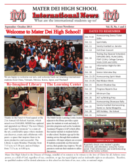 International News - Mater Dei High School
