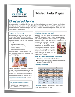 Volunteer Mentor Program