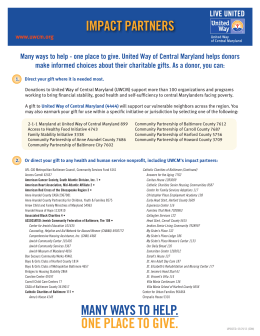impact partners - United Way of Central Maryland