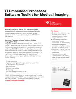 TI Embedded Processor Software Toolkit for Medical Imaging