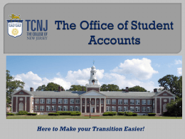 The Office of Student Accounts