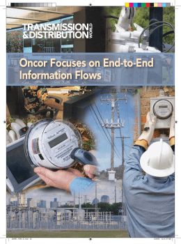 Oncor Focuses on End-to-End Information Flows