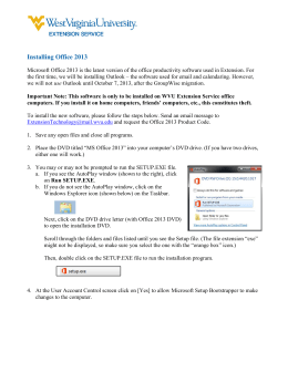 Installing Office 2013 - WVU Extension Service