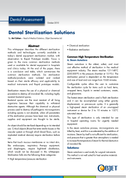Dental Sterilization Solutions