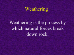 Weathering and Erosion Powerpoint PDF