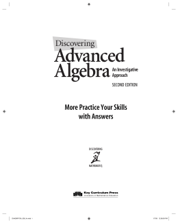 More Practice Your Skills with Answers