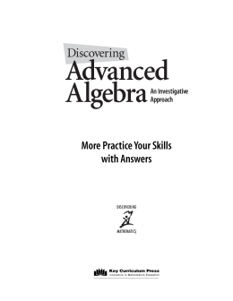 Practice Your Skills with Answers