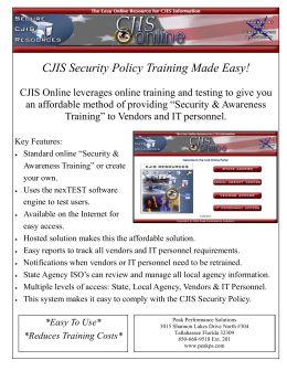CJIS Security Policy Training Made Easy!