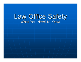 Law Office Safety
