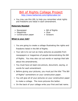 Bill of Rights Collage Project - Elementary Social Studies and