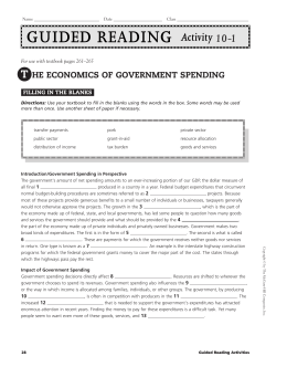 the Economics of Government Spending