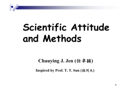 Scientific Attitude and Methods