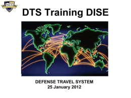 DTS Training DISE