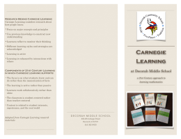 Carnegie Learning - Decorah Community School District
