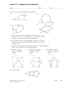 Lesson 5.1 • Polygon Sum Conjecture