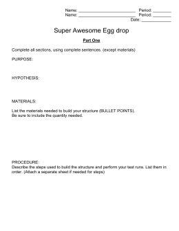 Egg Drop Lab Report