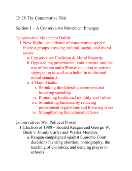 Ch 25 The Conservative Tide Section 1 – A Conservative Movement