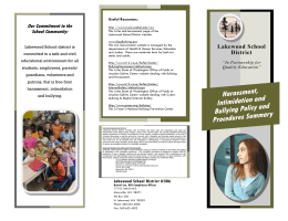 LWSD HIB Brochure - Lakewood School District