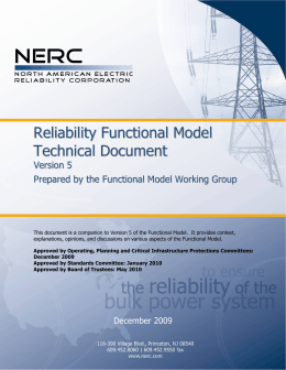Reliability Functional Model Technical Document