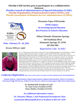 To Register - Florida CASE