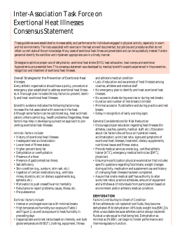 Heat Illness Consensus Statement