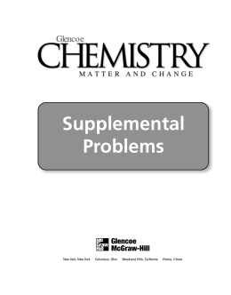 Supplemental Problems