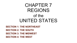 CHAPTER 7 REGIONS UNITED STATES