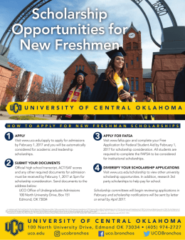 Scholarship Opportunities for New Freshmen