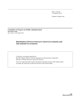 Distribution of Powers between Central Governments