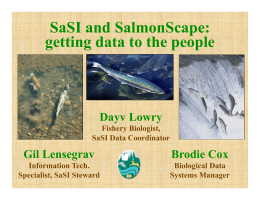 SaSI and SalmonScape - State of the Salmon